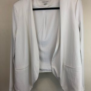 White Seamed Open Blazer from Bisou Bisou